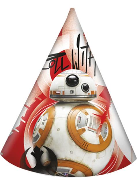 6 gorros de cono Star Wars - The Last Jedi