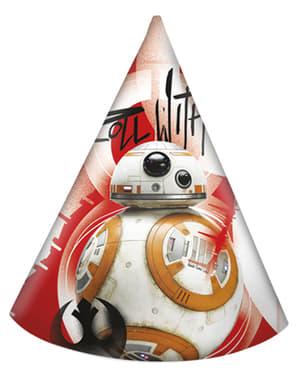 Zestaw 6 czapeczek na imprezę Star Wars Ostatni Jedi