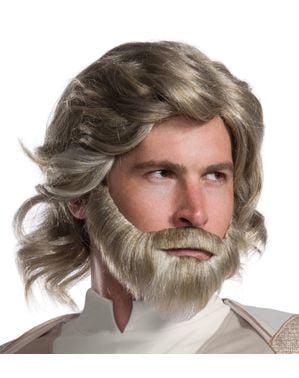 Peruca de Luke Skywalker Star Wars The Last Jedi para homem