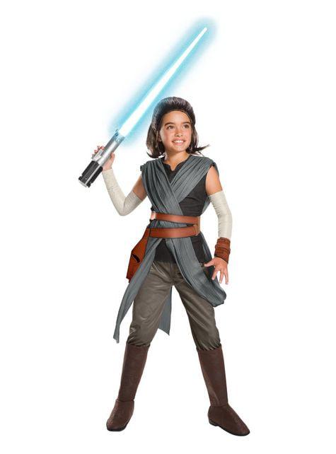 Rey Kostüm super deluxe für Mädchen Star Wars: Die letzten Jedi