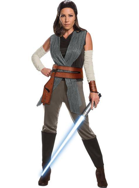Fato de Rey Star Wars The Last Jedi deluxe para mulher