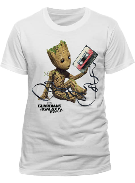 Guardians of the Galaxy Groot & Tape t-skjorte for menn