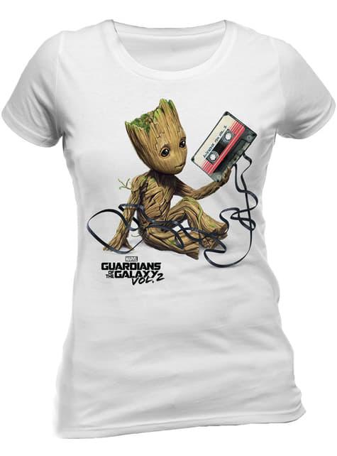 T-shirt de Os Guardiões da Galáxia Groot & Tape para mulher