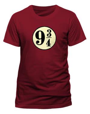 ハリーポッター 男性用プラットホーム93/4Tシャツ