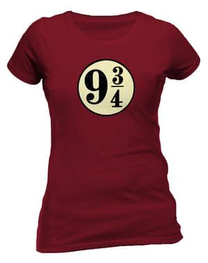 T-shirt de Harry Potter Plataforma 9 e 3/4 para mulher