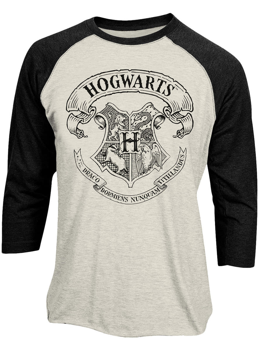 hogwarts baseball t shirt f r damen harry potter funidelia. Black Bedroom Furniture Sets. Home Design Ideas