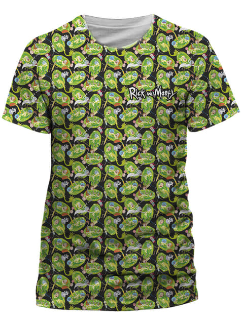 Rick and Morty Pattern Repeat t-shirt