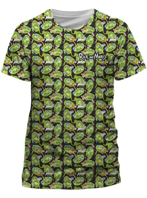 T-shirt Rick et Morty Pattern Repeat