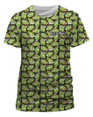 Rick and Morty gentaget mønster t-shirt