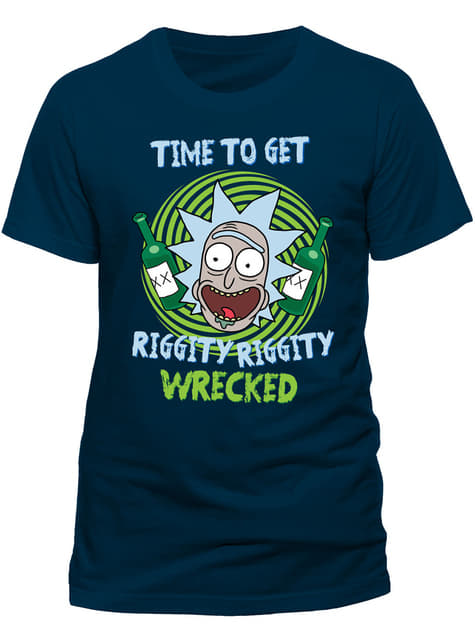 T-shirt Rick et Morty Riggity Riggity Wrecked