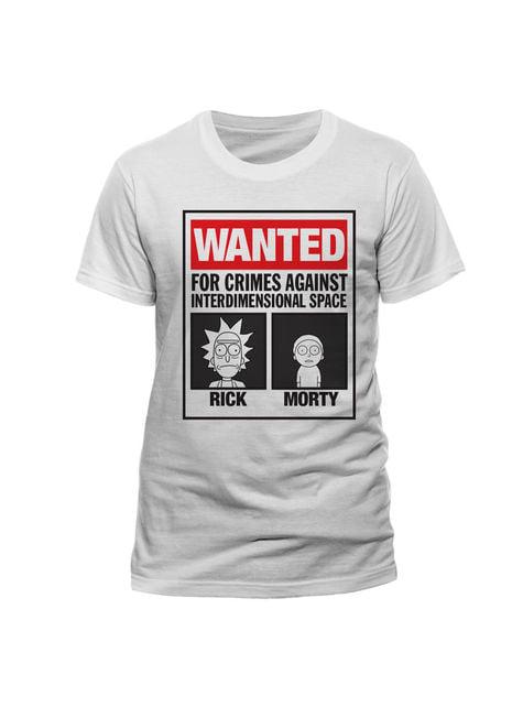 Rick and Morty Wanted t-shirt
