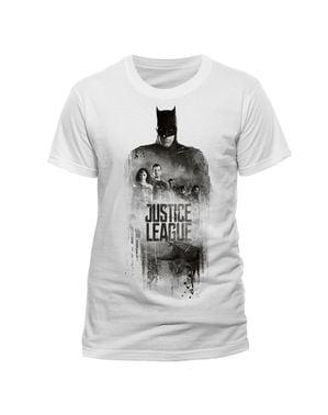 Maglietta Della Lega della Giustizia Batman Silhouette