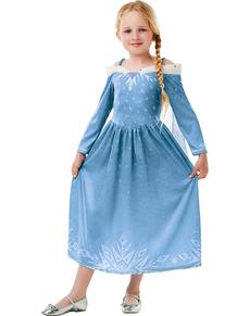 Disfraz de Elsa Frozen para niña - Las Aventuras de Olaf