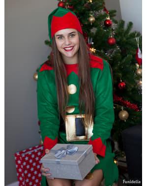 Déguisement Lutin de Noël verte pour femme