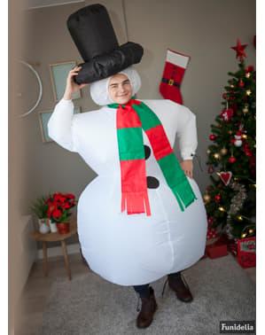 Aufblasbares Schneemann Kostüm