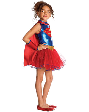 Fato de Supergirl tutu para menina