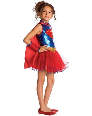 Mädchenkostüm Supergirl mit Tutu