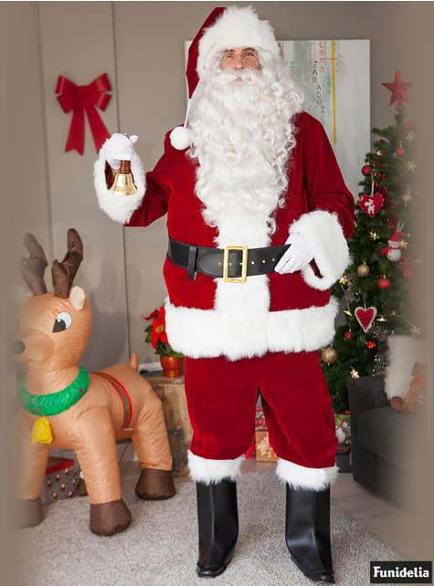 Mikulás karácsonyi paróka és szakáll (fehér)