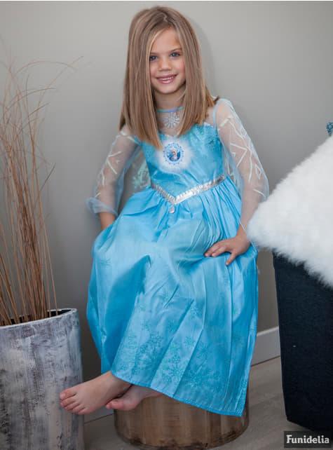 Disfraz de Elsa Frozen Deluxe para niña - niña