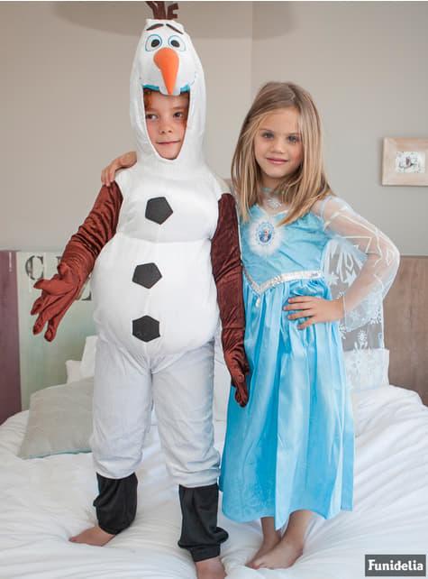 Frost Elsa Deluxe Maskeraddräkt Barn