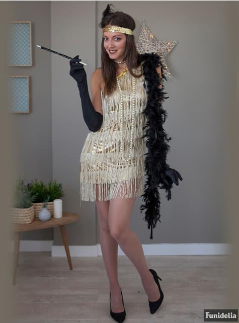 Boquilla negra con lentejuelas estilo años 20 - para tu disfraz
