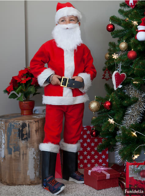 Делукс костюм за малки деца на Дядо Коледа