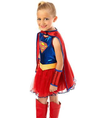Supergirl med tylskørt kostume til piger