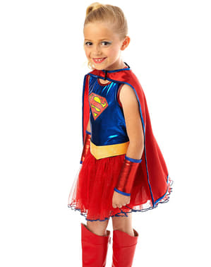 Supergirl Tutu Maskeraddräkt Barn