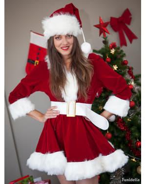 Fato de Mãe Natal sexy profissional para mulher