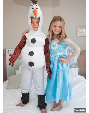 एक बच्चे के लिए जमे हुए ओलाफ पोशाक
