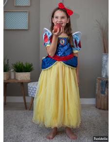 Disfraz de Blancanieves prestige para niña