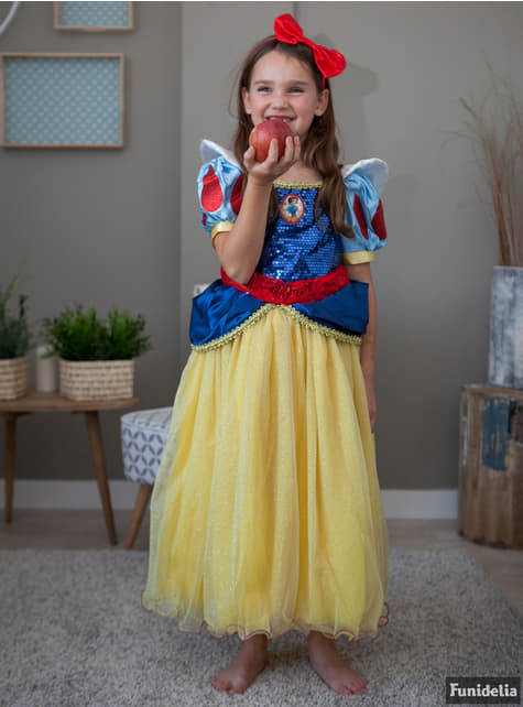 Disfraz de Blancanieves prestige para niña - niña