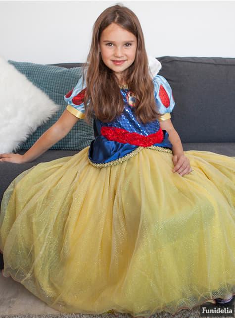 Disfraz de Blancanieves prestige para niña - original