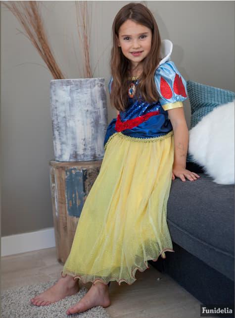 Fato de Branca de Neve prestigie para menina