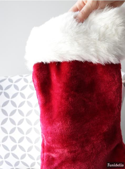53-cm vánoční punčocha Santa Claus sametová