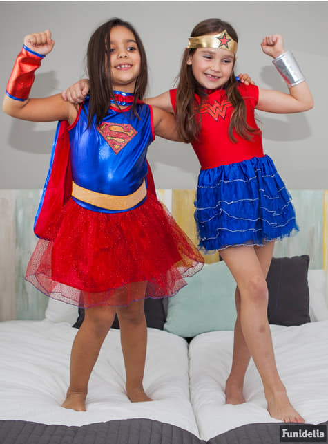 Disfraz de Wonder Woman DC Super Hero Girls con tutú para niña - niña