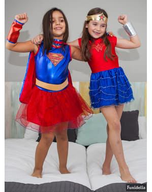 Fato de Wonder Woman DC Super Hero Girls com tutu para menina