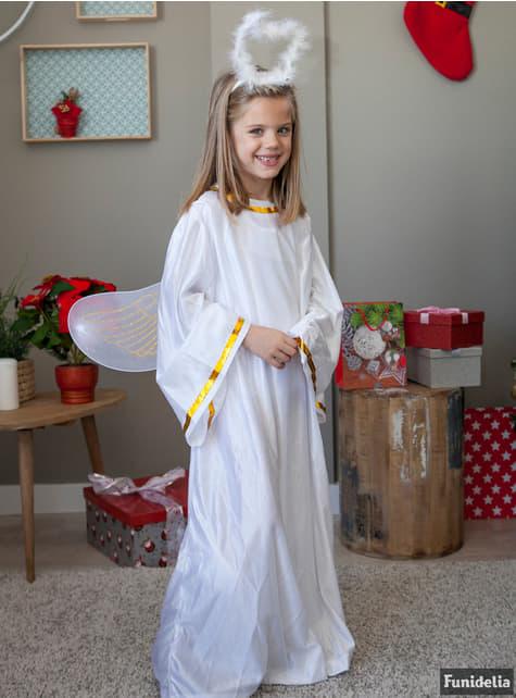 Fato de anjo de Natal branco infantil