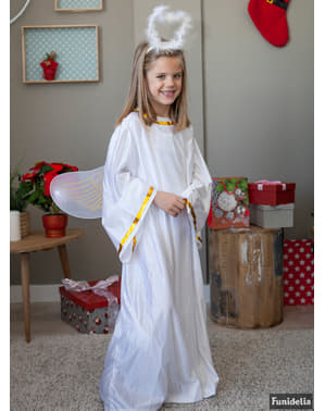 Kids's White Christmas Angel Costume