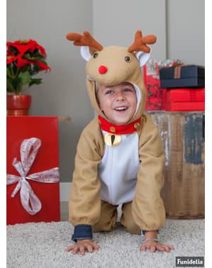 Fato de rena brincalhona infantil