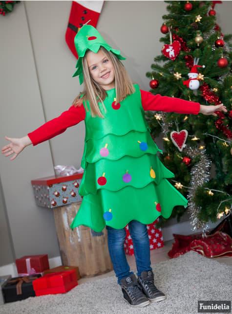 Disfraz de árbol de navidad alegre para niña - niña
