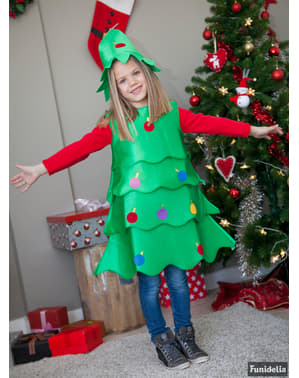 Дівчина щасливі Різдвяна ялинка костюм