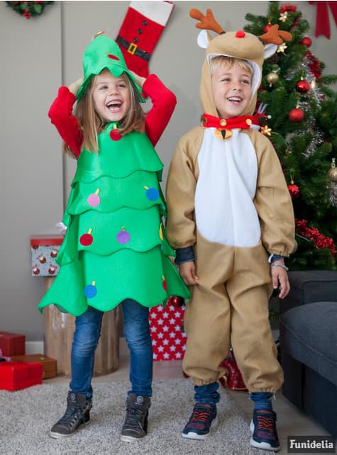 Disfraz de árbol de navidad alegre para niña - original