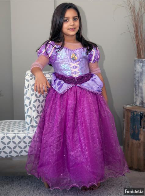 Disfraz de Rapunzel premium para niña - niña