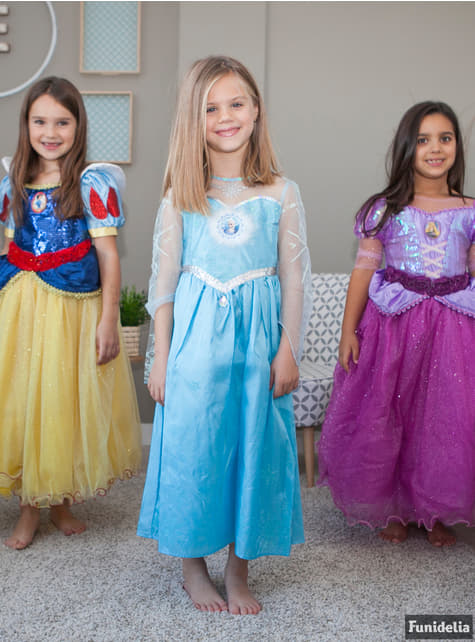 Disfraz de Rapunzel premium para niña - original
