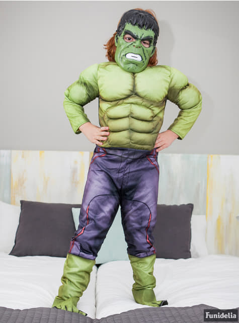 Disfraz de Hulk musculoso para niño - infantil