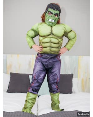 Muscular Hulk Costume for Kids