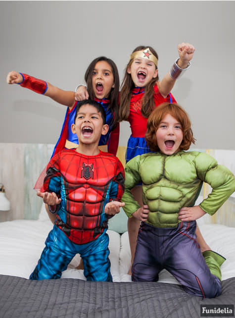 Muscular Hulk Costume for a child