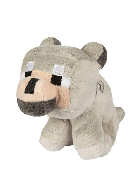 Peluche Minecraft bébé petit Loup 20 cm