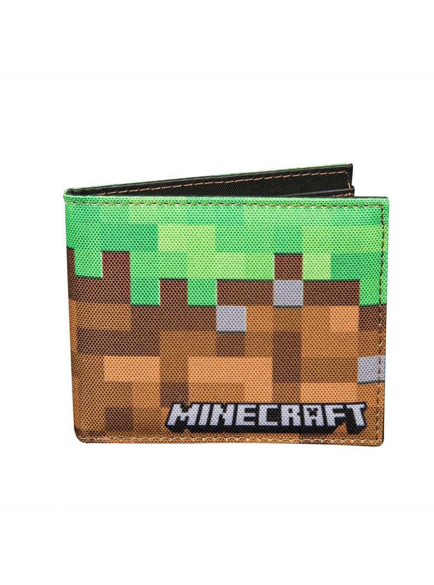 Cartera de Minecraft Dirt para verdaderos fans  9a2d9710eae